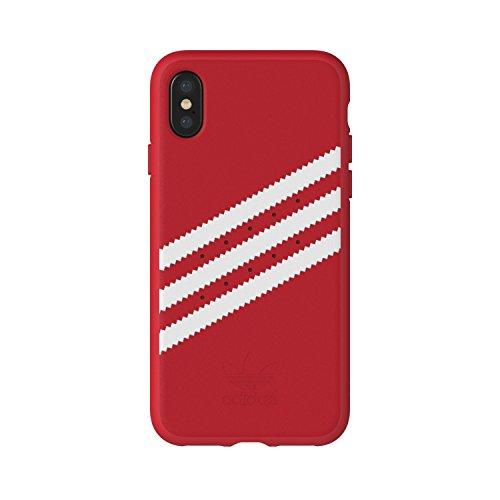 adidas Originals Stripes Case Handyhülle für Apple iPhone X - Rot/Weiß Red/White