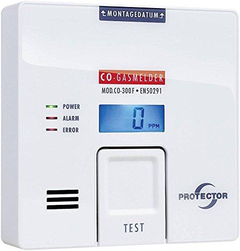 Protector CO-300F Gasmelder batteriebetrieben detektiert Kohlenmonoxid