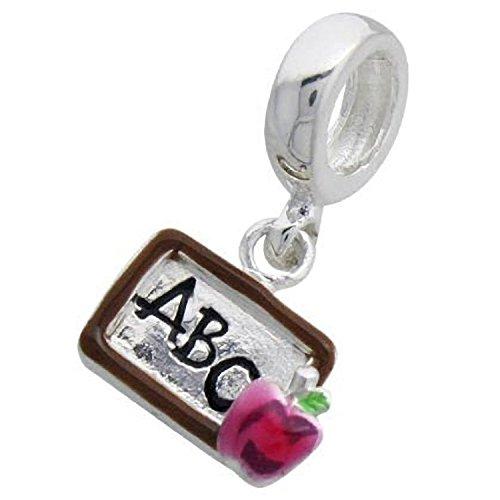 LEHRER ABC Apple Sterling Silber Charm Bead–Passt Für Europäische - Silber Lehrer Armband
