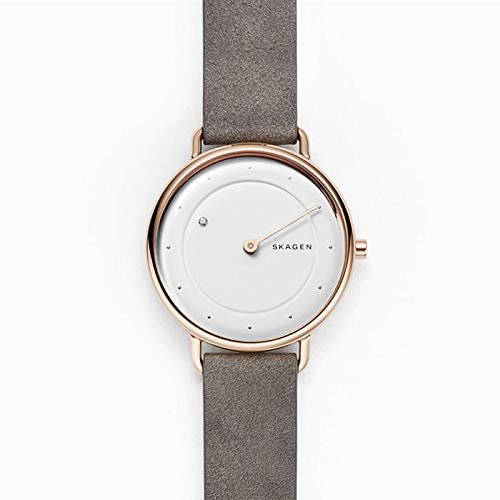 Skagen Damen Analog Quarz Uhr mit Leder Armband SKW2739