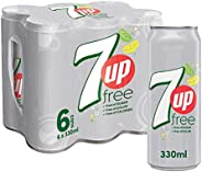 , 120008104357up Free, Carbonated Soft Drink, Cans, 6 x 330 ml
