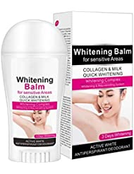 Allbesta Body Whitening Balm Collagen Milk Armpit Cream for Sensitive Area Between Legs Knees Intimate Private Parts Whitener