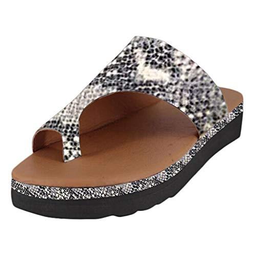 QUICKLYLY Sandalias Plataformas Mujeres Verano 2019 Nuevas Playa Punta Abierta Zapatos Cómodos Peep...