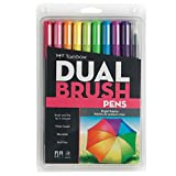 Best Art Markers - Tombow Dual Brush Pen Art Markers, Bright, 10-Pack Review