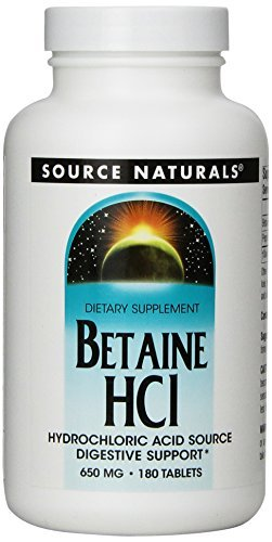 Source Naturals Shop (Source Naturals | Betain HCL | 650 mg | 180 vegetarische Tabletten | glutenfrei)