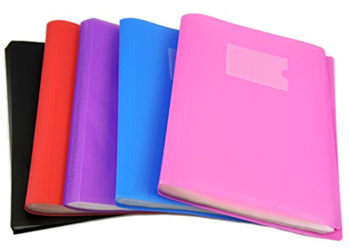 Arpan A4 Presentation Display Book Folder with Soft Cover, 60 Pockets, Perfect for Presentations, Filing, Storage, Interviews & Cvs (Assorted Colours) Test