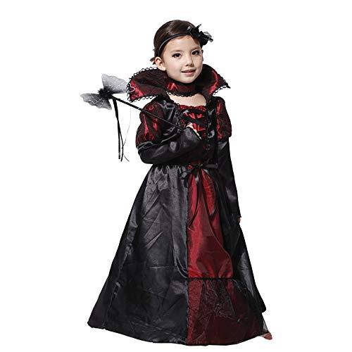 WANLN Hexen Kostüm Halloween Horror Schwarzes Kleid Vampir Königin Kostüm,L (Home Hexe Kostüm)