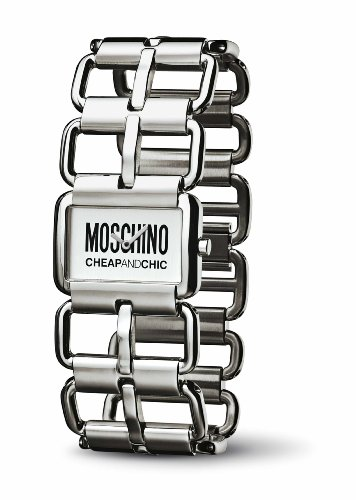 Moschino - MW0034 -Let's Link - Montre Femme - Quartz Analogique - Cadran Argent - Bracelet en Acier Inoxydable Argent