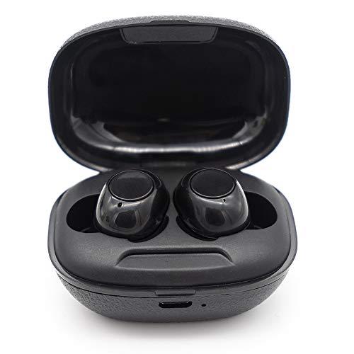 Kingsley Auriculares inalámbricos A8 5.0 Auriculares Bluetooth Deportivos Auriculares estéreo para Juegos Auriculares para automóvil para teléfonos Inteligentes (con Caja de Carga)