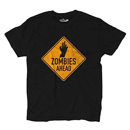 KiarenzaFD T-Shirt Zombie Ahead Horror Living Dead Infestation Zone Dead, schwarz, XX-Large