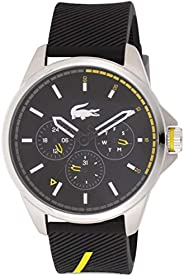 Lacoste Men's Black Dial Silicone Band Watch - 201
