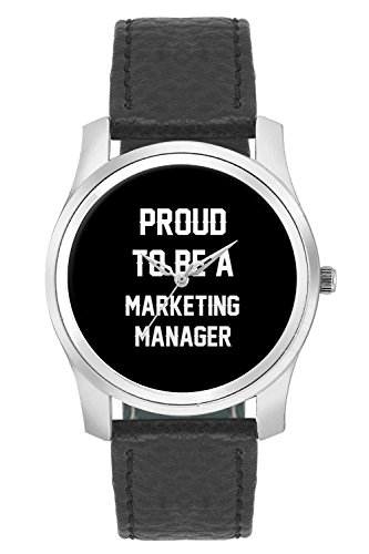 BigOwl Proud To Be A Marketing Manager Best Gift For MARKETING MANAGER Fashion Watches for Girls - Awesome Gift for Daughter/Sister/Wife/Girlfriend - Casual Quirky Typography Designer Analog Leather Band Watch (Perfect Gift for Girls)