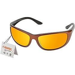 Elvex rsg201impacto gafas de sol, cobre/negro frame/naranja Espejo Lente