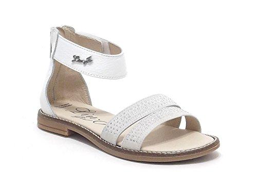 Liu Jo scarpe bambina, modello 21344, sandalo in pelle con strass, colore ghiaccio
