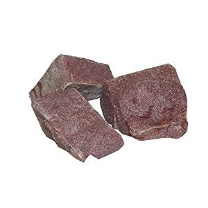 European Natural Stone Saunasteine Roter Quarz 20 kg – finnische Saunasteine – Saunagranit – Roter Quarzit – Größe 2: 10-15 cm
