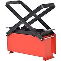 mewmewcat Máquina para Hacer Briquetas de Papel 34x14x14 cm Rojo y Negro Acero
