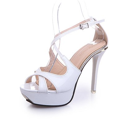 Zormey Frauen Heels Sommer Club Schuhe Kunstleder Party & Amp Abends L?ssig Ferse Metallische Toe Walking US5.5 / EU36 / UK3.5 / CN35