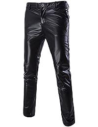 Homme Pantalons en Cuir Slim Bling Brillant Métallisé Infomel pour Clubwear  Danse Soirée Plaisir 9820fe1e887f