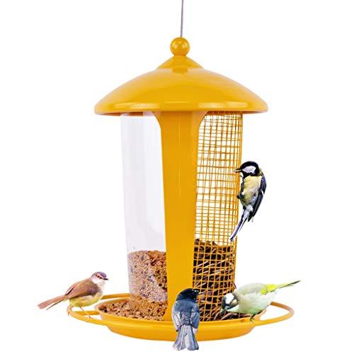 LULUDP-Bird feeder Comedero doble para pájaros Complemento-Comedero-Comedero para pájaros silvestres al aire...