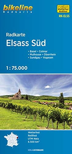 Alsace South cycle map 2018