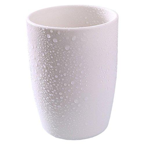 Plastique de salle de bain Gobelet du bain de bouche Tasse Woopower rinçage Mug rincer Tasse, Gobelet à eau épais pour couple, blanc, Taille unique