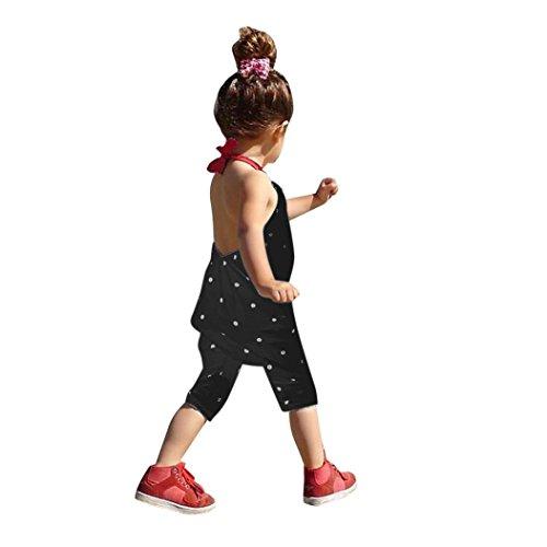 Bekleidung Longra Kleinkind Kind Baby Mädchen Riemen Overalls Stück Hosen Rompers Jumpsuits Mädchen SommerKleidung(1-6Jahre) (100CM 2-3Jahre, Black) (Strampelanzug Frauen Niedliche)