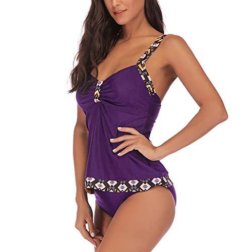 Bfmyxgs Sexy Beachwear für Frauen Damen Plus Größe drucken Tankini Swimjupmsuit Badeanzug Bademode Bademode Bodysuits Bikini Tankini Bademode Bade Badeanzug Monokini Sets Beachwear gepolstert
