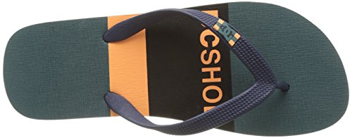 DC Shoes Spray Graffik, Tongs Homme Multicolore (Navy/ Orange)
