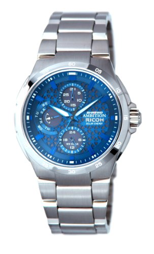ricoh-shrewd-ambition-intellect-blue-759002-51-mens-day-and-date-display-analog-display-rechargeable