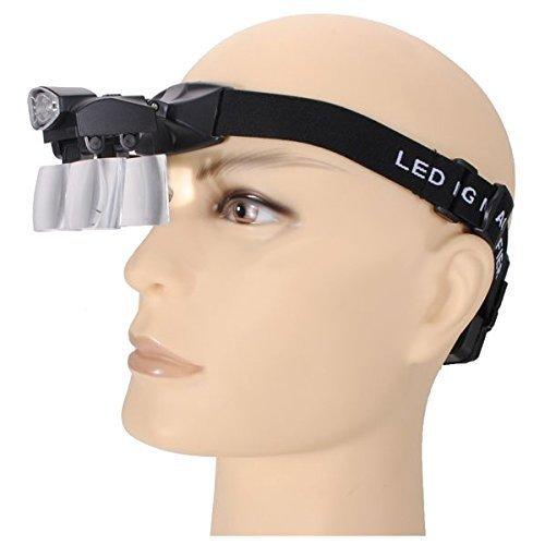 5Objektiv LED Licht Lampe Loop Head Stirnband Lupe Lupe Lupe 1–3,5x (Fünf Bracket Licht)