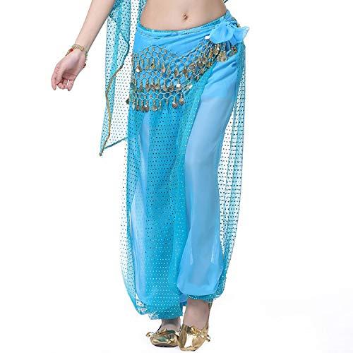 juan 9 Bauchtanz-Hosen für Damen, Chiffon-Hose, Pailletten-Hose, für 12 Farben One Size Aspicture9