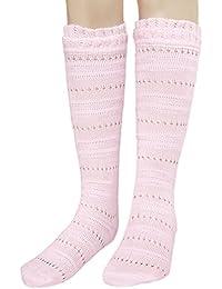 JHosiery Niña calcetines hasta la rodilla Pointelle sin costuras para pies sensibles