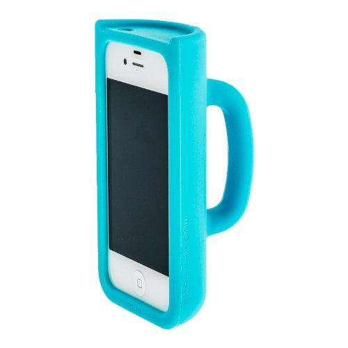 iPhone 4S / iPhone 4G MUG Case Designer Schutzhülle Hülle Tasse ROT mit Selbststandfunktion (Fotos Filme anschauen) Blau