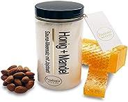 Sauna Salz Peeling – Honig Mandel 400g - Meersalz m. Jojobaöl Vitamin E Body Scrub – Dusch- und Körperpeeling