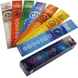 Encens Indien des 7 chakras : purification équilibrage méditation - 35 bâtonnets