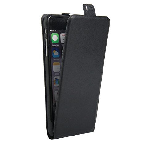 iPhone 6S Plus Hülle Case,iPhone 6 Plus Hülle Case,Gift_Source [Photo Card Slot] [Stand Feature] Elegant Up-Down Open Magnetic Snap Hülle Case Premium PU Leder Hülle Case Flip Hülle Case Cover für iPh E01-01-Black160614