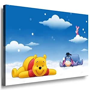 winnie the pooh babyzimmer leinwand bild 100x70cm k poster bild fertig auf. Black Bedroom Furniture Sets. Home Design Ideas