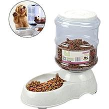 UEETEK Alimentador automático de alimentos para perros, alimentador de alimentos de agua de 3.5L para alimentación de perros Cat