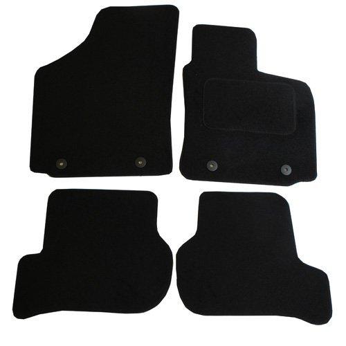 Preisvergleich Produktbild JVL Seat Leon MK 22005–2009Auto zugeschnitten Badematten-Set mit 4Clips–Schwarz