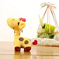 YeLinjn Creative Lovely cute color deer Plush pendant giraffe plush toy wedding game company small gift bag Pendant high Quality Exquisite Affordable Keyring