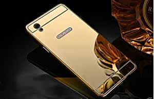 Aart Luxury Metal Bumper + Acrylic Mirror Back Cover Case for Oppo F1Plus By Aart Store + Portable & Bendable Silicone, Super Bright LED Lamp, 360 Degree Flexible by Aart Store.