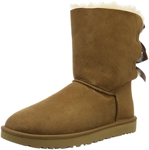 Ugg Australia Women's Bailey Bow Half Calf Boots, Black, US, Brown (Chestnut),13 UK (46 EU)