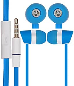 JKOBI In Ear Bud EARPHONES HANDSFREE HEADSET with Mic for For Samsung Galaxy Grand Quattro i8552 with 3.5mm Jack-SkyBlue