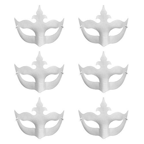 k DIY Masken Craft Papier Halloween Masquerade Maske Dekorieren Party Kostüm, Krone, Einheitsgröße (Mime Halloween Kostüm Kinder)