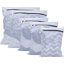 Bolsas de lavandería, Kealive 5 Pcs Bolsas para la colada De lavado de alta resistencia y más limpio con cremallera, Blanco (Large * 2, Medium * 2, Small * 1),Bolsas para la colada
