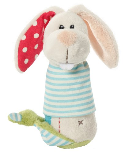 Nici - my first nici 34791 Greifling Hase Plüsch mit Quietsche 16.5 cm (Safety First Neugeborenen)