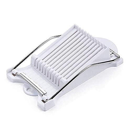 FINALYMU 1 Stücke Abs Edelstahl Mittagessen Fleisch Käsehobel Für Ei Spam Cutter Küche Kochen Werkzeuge (Weiß) -