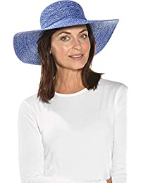 290a7a1de5d Coolibar Women s UV Protective 50 Plus Packable Wide Brim Hat-White