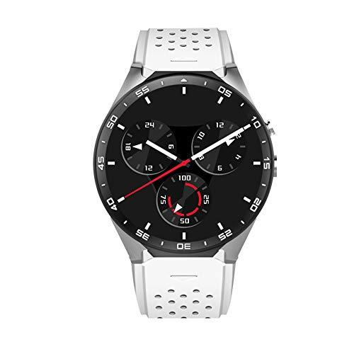 mAjglgE Smartphone-Uhr, Runde Bildschirm GPS 3G Kamera Bluetooth Smart Phone Uhr Sport Band für Android White - White-band-uhr
