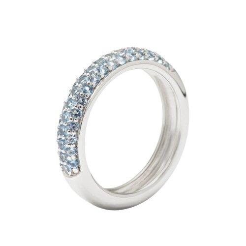 Fossil Damen-Ring 925 Sterling Silber Zirkonia blau Gr. 56 (17.8) JFS00081040-8